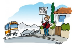 Arret de bus à la demande canton de Barjols