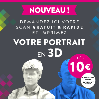 Scan gratuit de votre portrait en 3D sur Cartridge World Draguignan